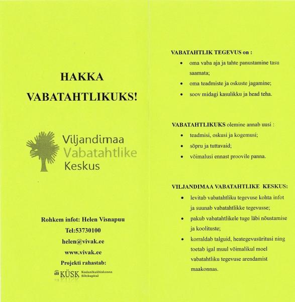 Vabatahtlike laat Viljandis