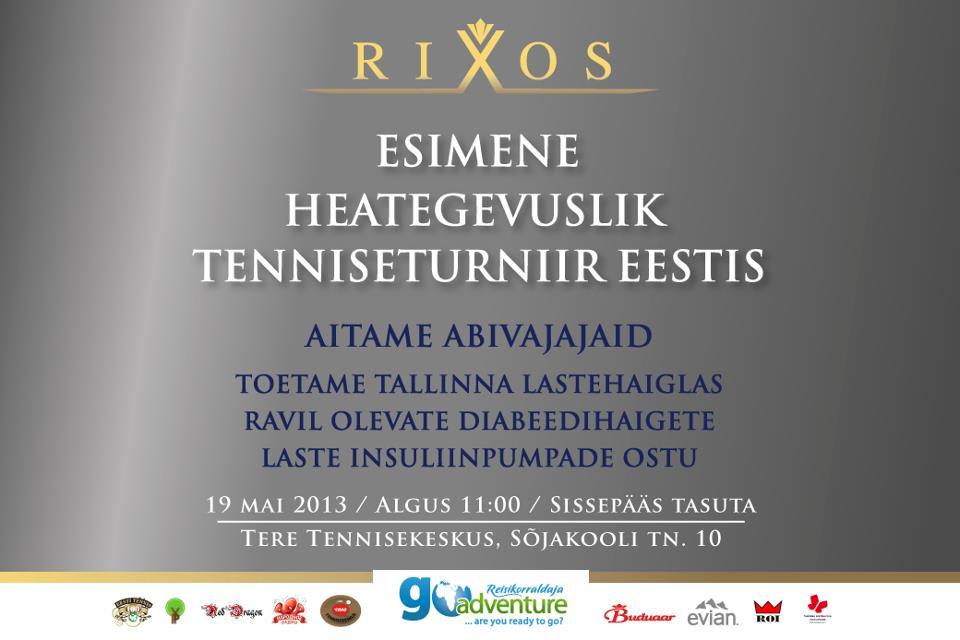 Luksushotellikett korraldab Tallinnas heategevusliku tenniseturniiri