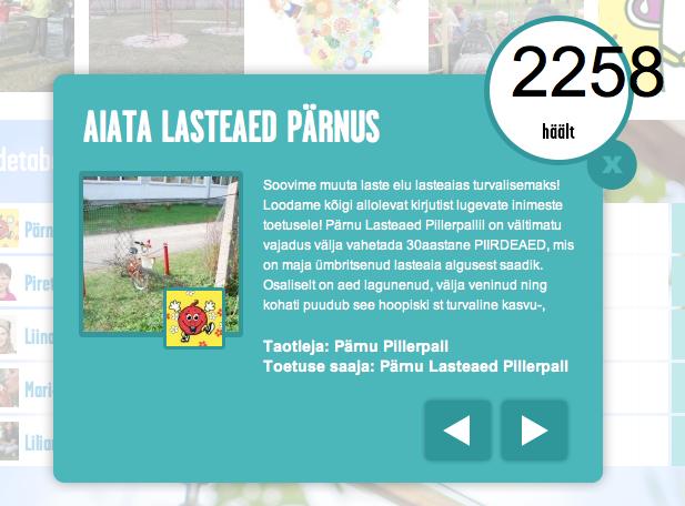 Ifi turvafondi toetuse saab Pärnu Pillerpalli lasteaed
