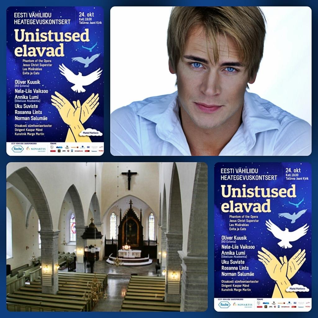 Eesti Vähiliit ja Uku Suviste kutsuvad heategevuskontserdile Tallinna Jaani kirikus