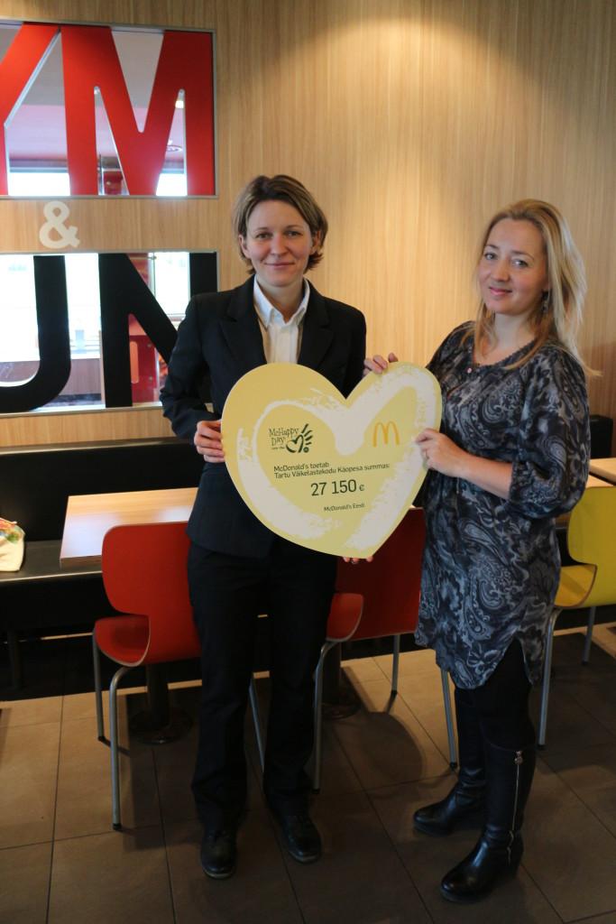 McDonald's külastajad annetasid Käopesa lastele mullusest pea poole rohkem