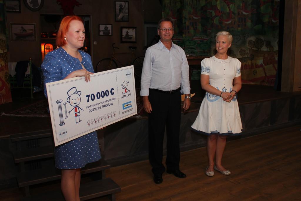 Laste kultuurielamuste heaks on annetatud üle 200 000 euro