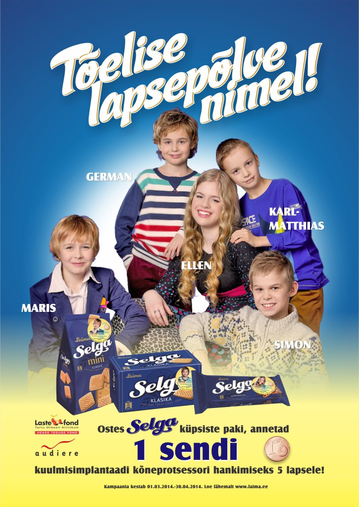 Selga küpsiste kampaaniaga kogunes kuulmispuudega lastele 10 000 eurot