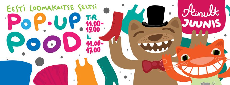 Eesti Loomakaitse Selts avab heategevusliku Pop Up poe