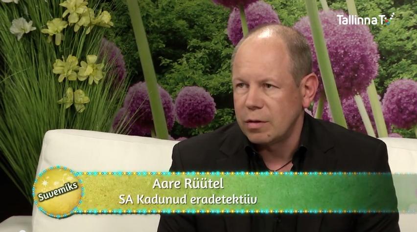 VAATA VIDEOT! Eradetektiiv Aare Rüütel räägib TTV saates Suvemiks SA Kadunud heategevuslikest eesmärkidest