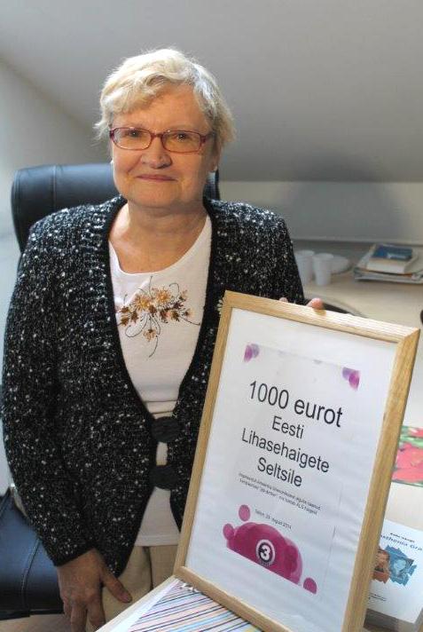 TV3 toetab Eesti Lihasehaigete Seltsi 1000 euroga