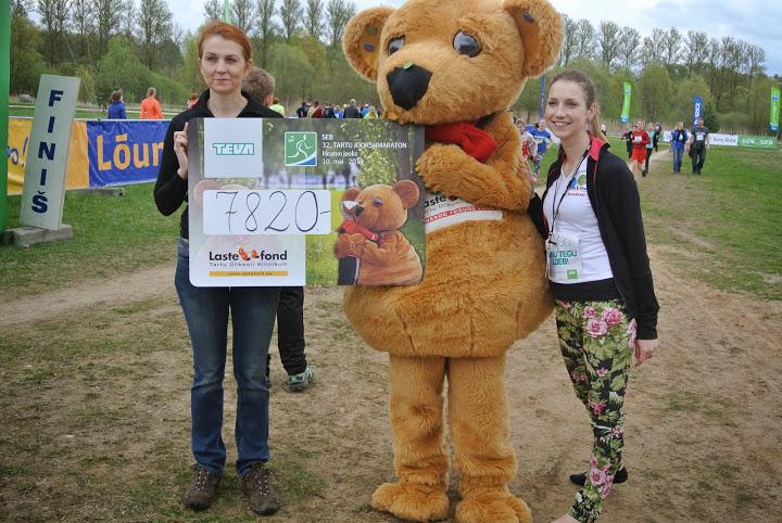 Lastefond ja Klubi Tartu Maraton kogusid liigesehaigete laste toetuseks ligi 8000 eurot