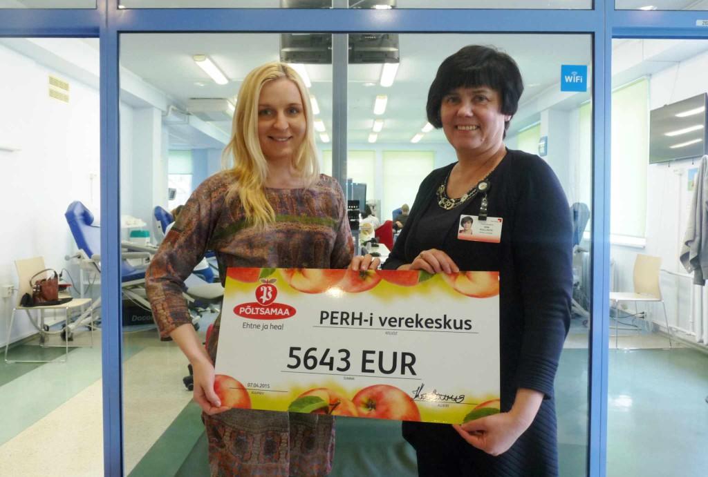 HEAD EESTIMAA INIMESED! Mahlaostjad toetavad verekeskust ligi 6000 euroga