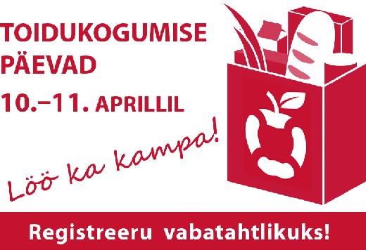TOIDUPANK OOTAB! 10. ja 11. aprillil toimuvad toidukogumispäevad