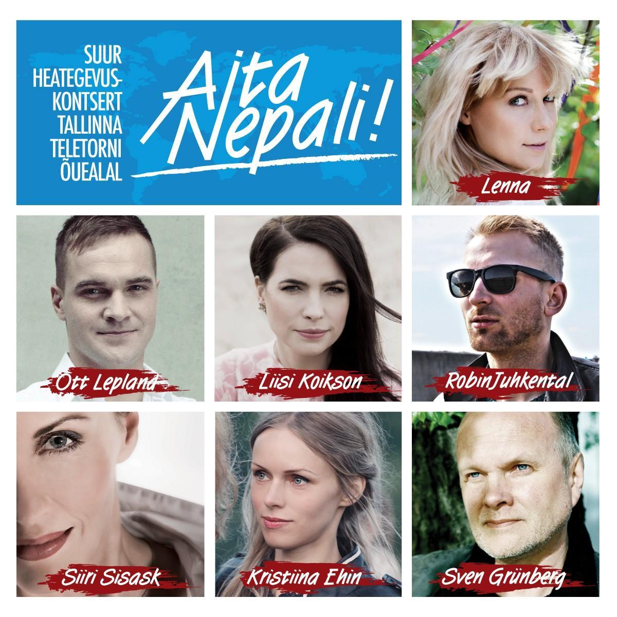 "13 tippartisti annavad heategevuskontserdi ""Aita Nepali!"""