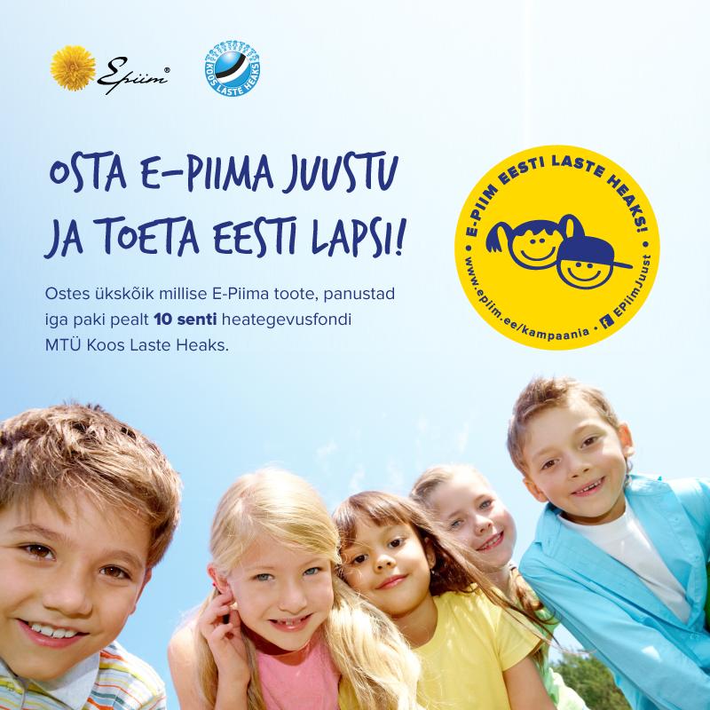 EESTI LASTE HEAKS! Heategevusfond kogus Eesti lastele 30 000 eurot