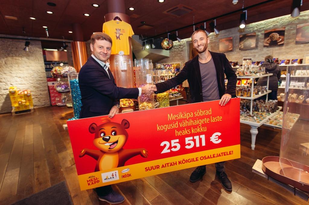 VÄHIHAIGETE LASTE HEAKS! Mesikäpa sõbrad kogusid vähihaigete laste heaks üle 25 000 euro