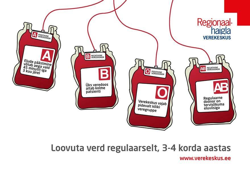 AITA PÄÄSTA ELUSID! Verekeskus kutsub Rakvere Ametikoolis toimuvale doonoripäevale