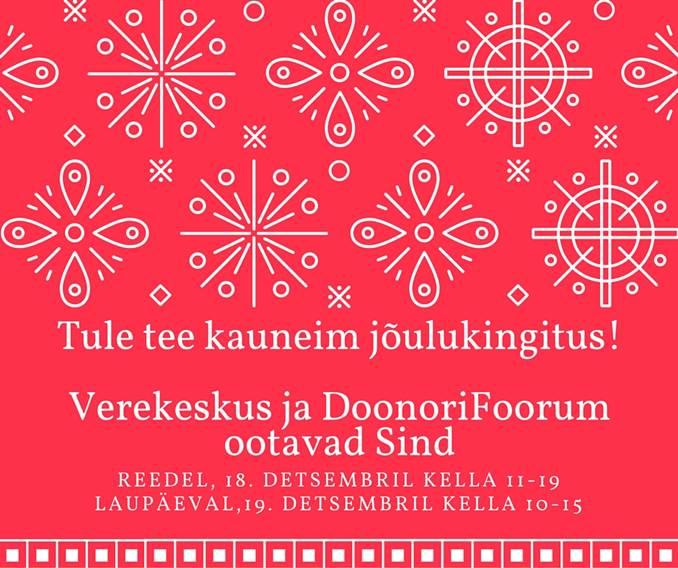 Doonorid saavad laupäeval Tallinnas verd loovutada