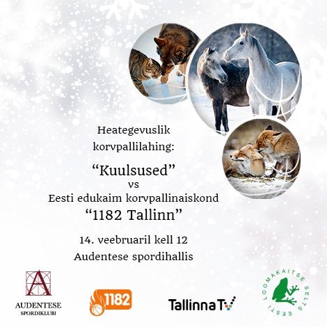 Heategevuslik sõbrapäeva korvpallivõistlus Eesti Loomakaitse Seltsi toetuseks