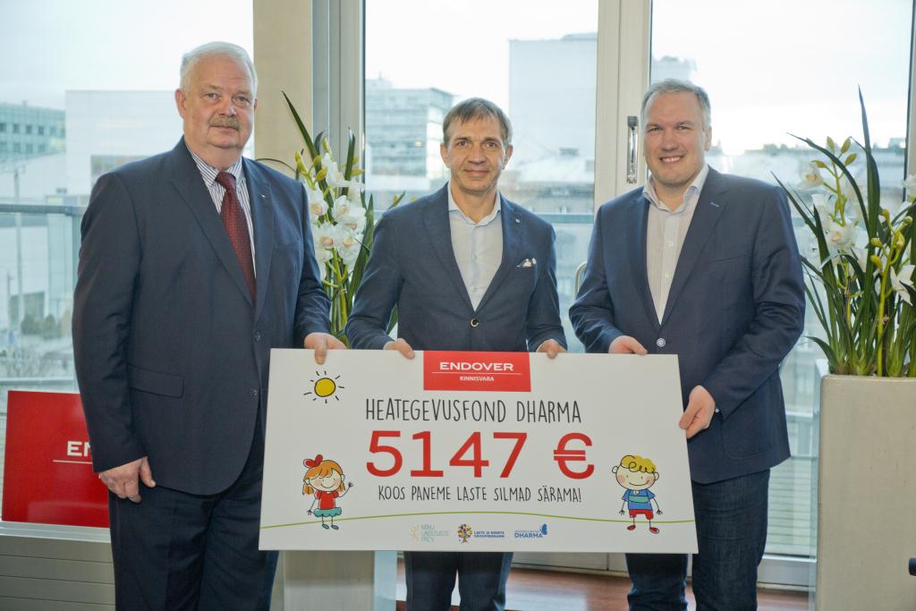 Endover Kinnisvara annetas abivajavatele lastele üle 14 000 euro