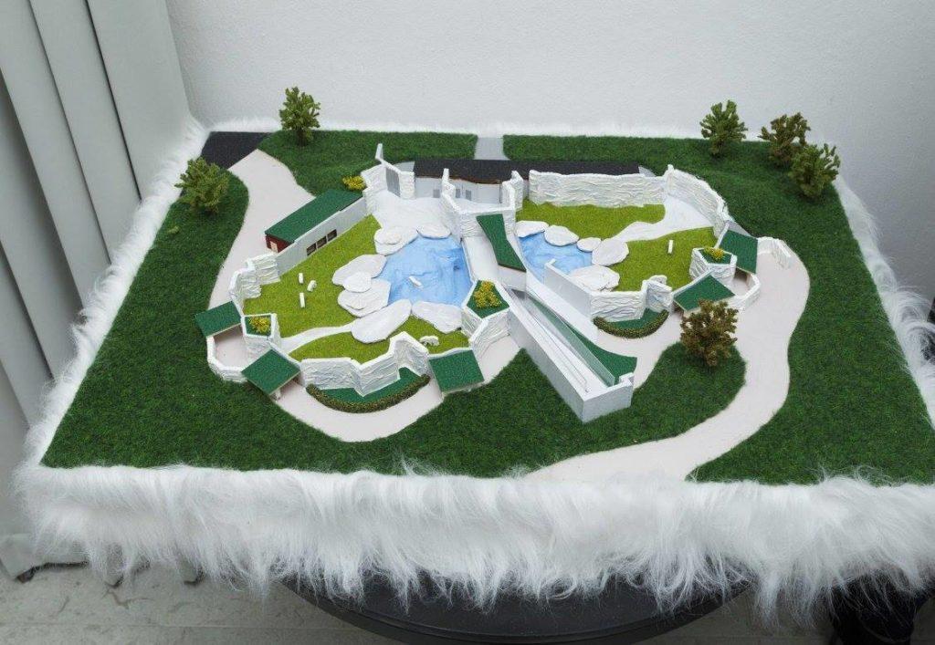 Jääkarude uue kodu makett