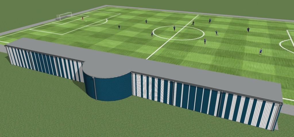 Heade inimeste abiga rajatud Sepa jalgpallikeskus saab katusega tribüüni