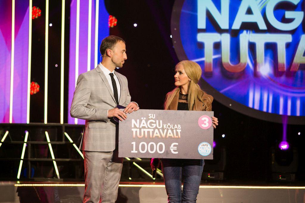 """""""Su nägu kõlab tuttavalt""""  saate võitja Hele Kõrve annetas 1000 eurot MTÜ Eesti Laste Südameliidule"""