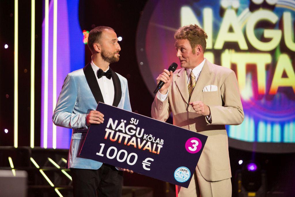 """FOTOD! """"Su nägu kõlab tuttavalt"""" võitja Andres Dvinjaninov annetas võidusumma Eesti Laste ja Noorte Diabeedi Ühingule"""