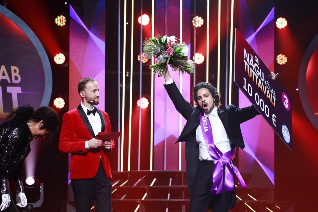 """""""Su nägu kõlab tuttavalt"""" võitja Valter Soosalu annetas 10 000 eurot MTÜ-le Enneaegsed Lapsed"""