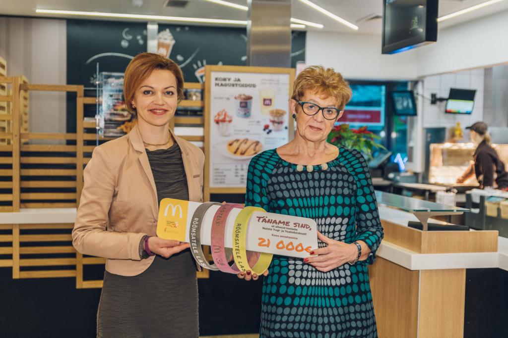 McDonald's restoranide külastajad annetasid perevägivalda kogenud lastele 21 000 eurot