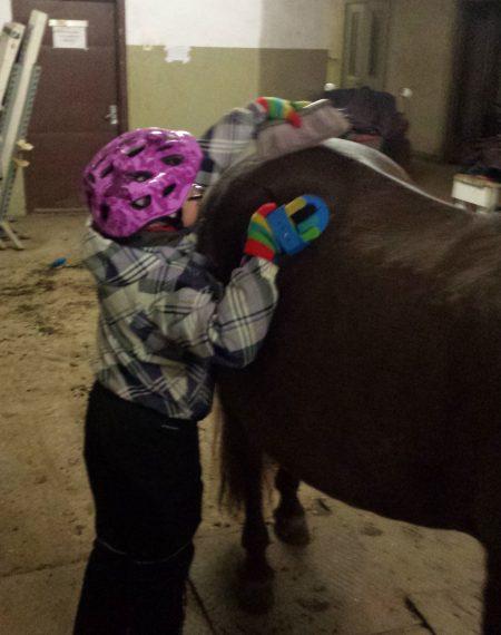 Downi sündroomiga tüdruk saab annetajate toel jätkata ratsutamisteraapiaga