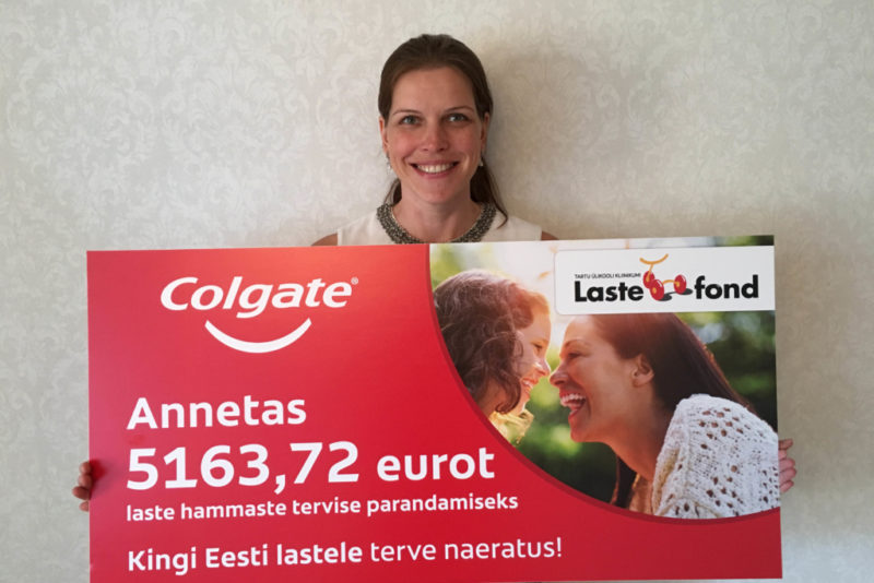 Colgate annetas Lastefondile Eesti laste hammaste raviks üle 5100 euro