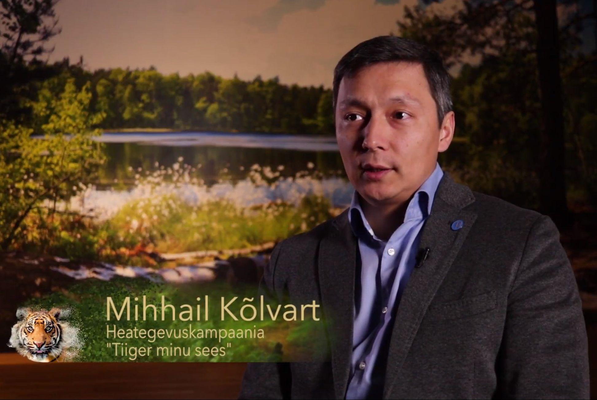 """VIDEO! """"Tiiger minu sees!""""! Heategevuskampaaniaga tiigri heaks liitus ka Mihhail Kõlvart"""