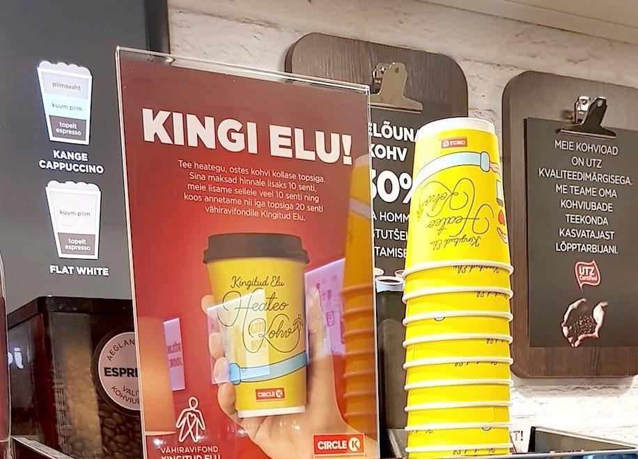 Circle K iga kollase kohvitopsiga läheb heategevusse 20 senti