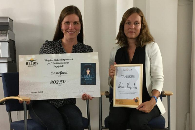 Lasteraamatu müügiga kogunes ravitoitu vajavate laste toetuseks üle 800 euro