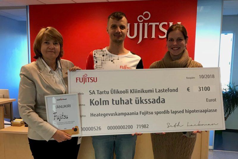 Fujitsu töötajad aitasid spordiga haiged lapsed hipoteraapiasse