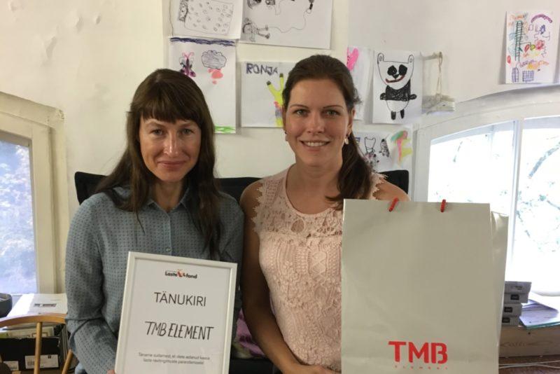 Ettevõte TMB Element annetas kuulmispuuetega laste toetamiseks 3000 eurot