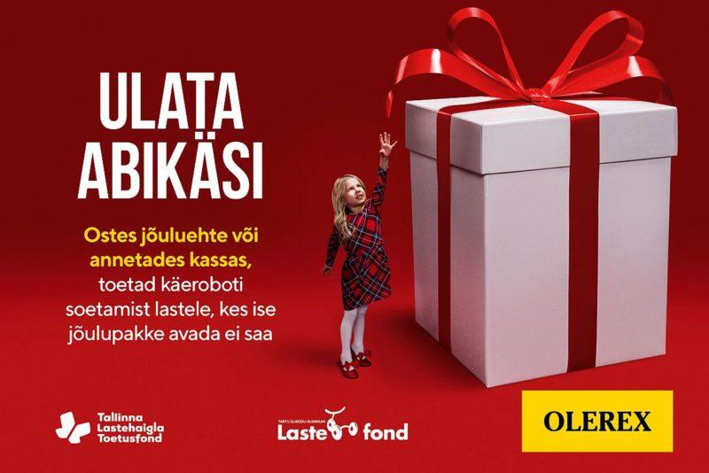 """Heategevuskampaaniaga """"Ulata abikäsi"""" kogutakse raha käerobotite ostmiseks lastehaiglatele"""