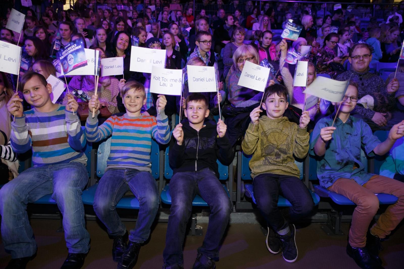 Nii vahva tegu! 1500 last sõidavad heategevusfondi Aitan Lapsi toel Eesti Laulu peaproovi vaatama