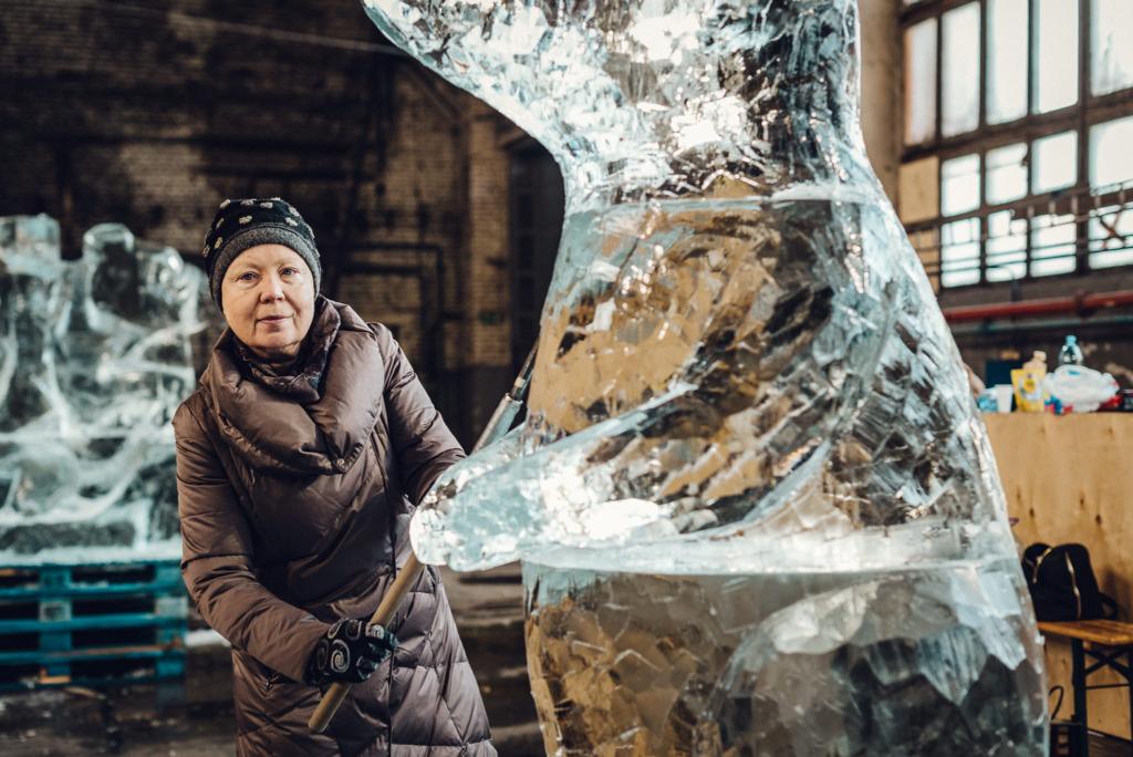 Metallroti jääskulptuur. Foto: Marek Metslaid